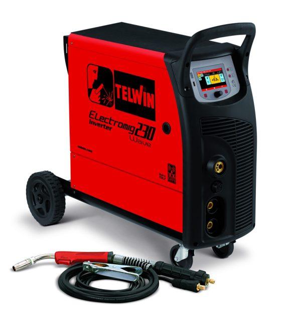 Electromig 230 WAVE hegesztőgép alu és galvanizált lemezeknél impulzus hegesztéshez is