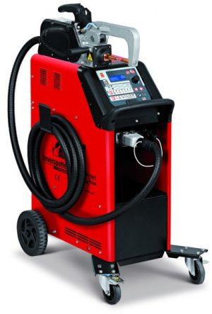 Az INVERSPOTTER 13500 SMART AQUA kézi ponthegesztő pneumatikus vízhűtéses karokkal rendelkezik, a hagyományos hegesztőgépekkel szemben magas ponthegesztő áramot tesz lehetővé alacsony abszorpció mellett.