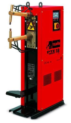 A PTE 18 állványos ponthegesztő folyamatos és impulzusos üzemmódban is működtethető. Az elektródás és a karok hűtése szükséges.