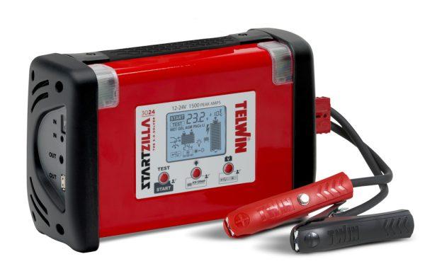 StartZilla 3024 hordozható bikázó és akkutesztelő beépített akkumulátorral
