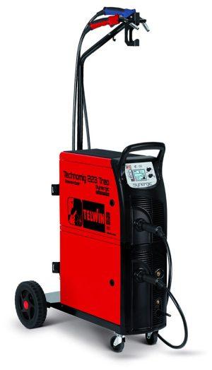 A Technomig 223 TREO Synergic hegesztőgép egyszerre 2 nagy dobos huzallal is használható, a legjobb választás karosszériás műhelyekbe