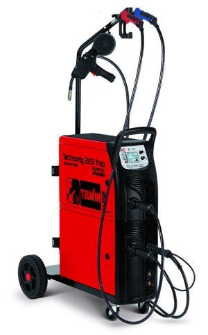 A Technomig 223 TREO Synergic Spool Gun hegesztőgép egyszerre 2 nagy dobos huzallal is használható, a legjobb választás karosszériás műhelyekbe