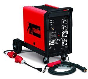 Telmig 195/2 Turbo hegesztőgép 230V-os és 400V-os hálózatról is üzemeltethető