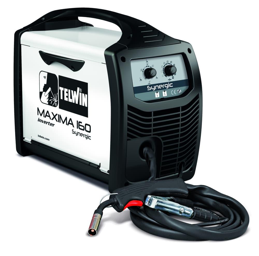 Maxima 160 Synergic inverteres hegesztőgép vékony lemezekhez, hagyományos védőgázos vagy védőgáz nélküli porbeles huzal hegesztéséhez