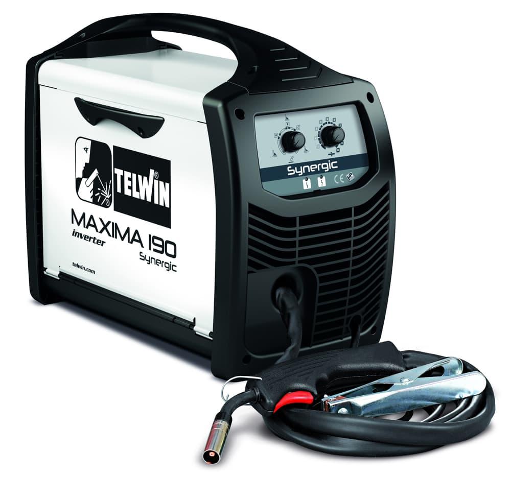 Maxima 190 Synergic inverteres hegesztőgép vékony lemezekhez, hagyományos védőgázos vagy védőgáz nélküli porbeles huzal hegesztéséhez