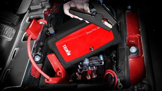 Motor indítása Drive Pro 12/24 készülékkel